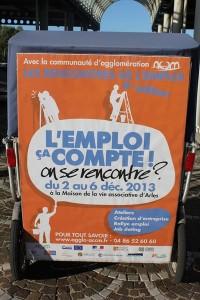 Ouverture des Rencontres de l'emploi à la Maison des associations d'Arles le 02/12/2013