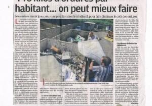 Parution presse dans Provence du 17 décembre 2013