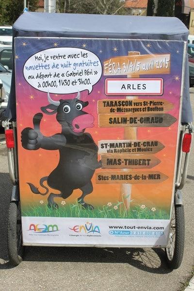 Féria de Pâques 2015 à Arles: Les navettes gratuites nocturnes d'Envia