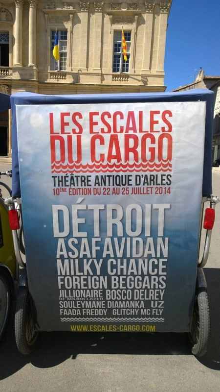 Les Escales du Cargo au théatre Antique d'Arles du 22 au 25 juillet 2014