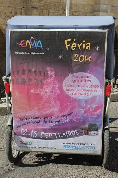 Navettes nocturnes gratuites d'Envia pour le retour de la Feria d'Arles les 12 et 13 septembre 2014