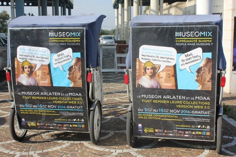 Campagne de communication éco-responsable muséomix Arles 2014