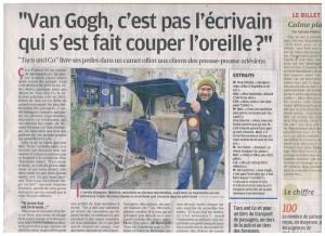 Parution Presse pour la sortie de Brèves de Taco dans la Provence  du 30/12/2014