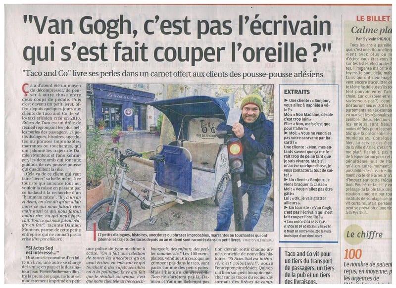 Article Provence  Brèves de Taco
