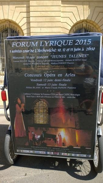 Forum lyrique Arles 2015