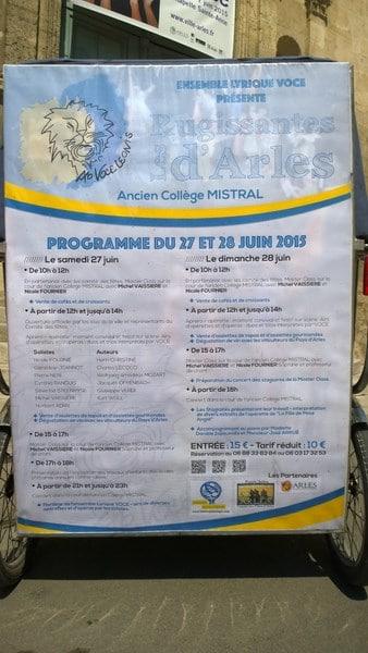 Les Rugissantes d'Arles avec l'ensemble lyrique Voce les 27 et 28 juin 2015