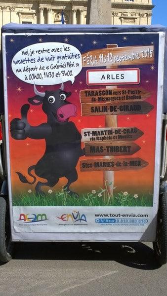 Féria du riz 2015 à Arles du 11 au 13 septembre: Navettes de nuit gratuites avec Envia