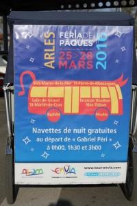 Féria Arles 2016 du 25 au 28 Mars  avec les navettes gratuites Envia