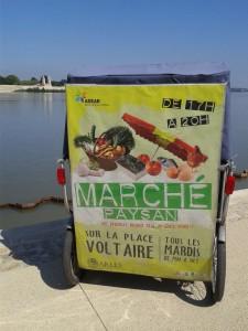 Marché paysan à Arles tous les mardis de 17h à 21h sur la place Voltaire.