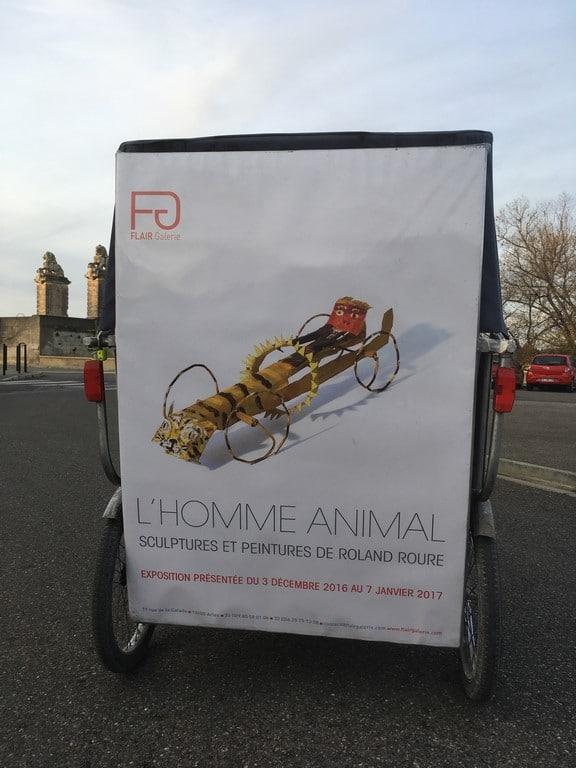 L'homme Animal, sculptures et peintures de Roland Roure à la galerie Flair à Arles.