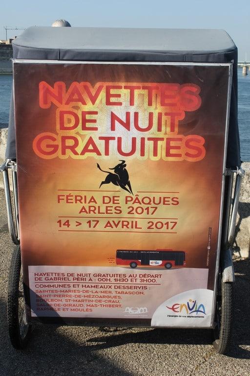 Féria de Pâques d'Arles 2017: Navettes gratuites  proposées par Envia