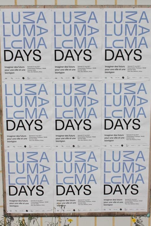 Luma days: Présentation publique le samedi 27 Mai 2017 au Parc des Ateliers à Arles