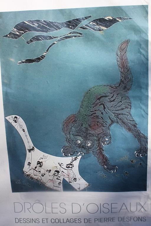 Drôles d'oiseaux, dessins et collages de Pierre Desfons à la Flair galerie d'Arles