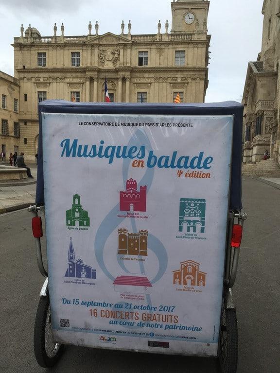 Musiques en balade, 4ème édition, du 15 septembre au 21 Octobre 2017, pays d'Arles