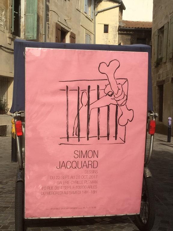 Dessins de Simon Jacquard à la galerie Cyrille Putman à Arles