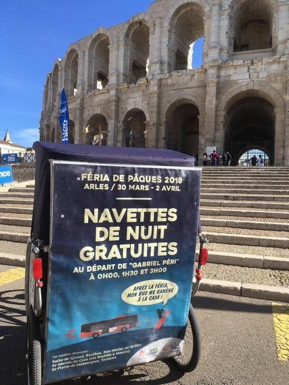 Féria de Pâques d'Arles 2018: Navettes gratuites proposées par Envia