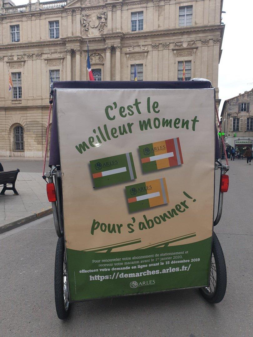 Renouvellement Abonnement stationnement Arles