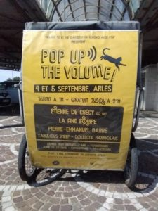 Pop up the volume, les 4 et 5 septembre 2020 chez POP, 1 rue Ferdinand de Lesseps à Arles