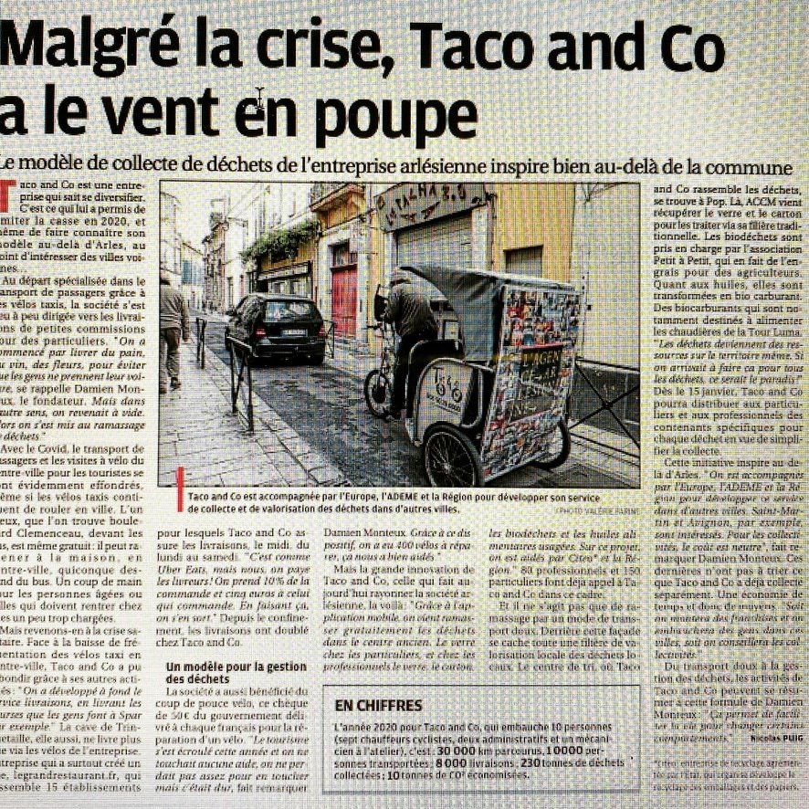 Nouvelle publication presse dans La Provence