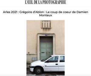 Coup de coeur Taco and Co: le recueil «à demain» de Grégoire d'Ablon mis à l'honneur dans L'Oeil de la Photographie