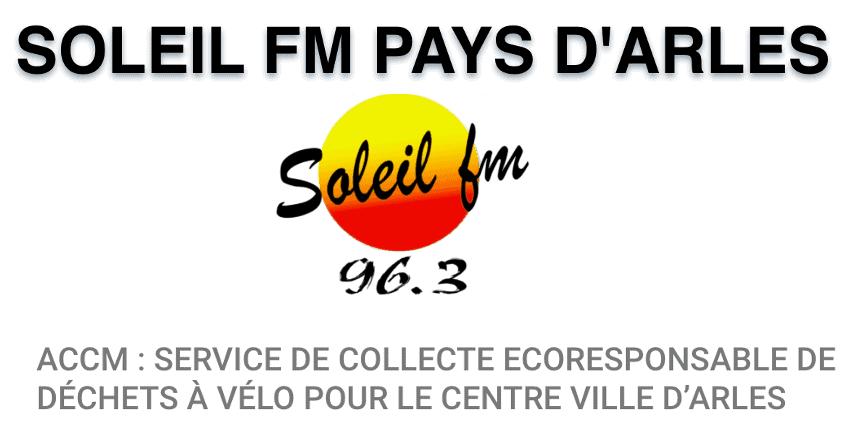Soleil FM Pays d'Arles parle de notre service de collecte de déchets écoresponsable