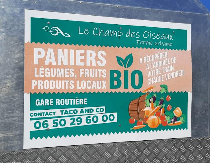 Votre panier de fruits, légumes, produits bio et locaux disponible en gare SNCF!